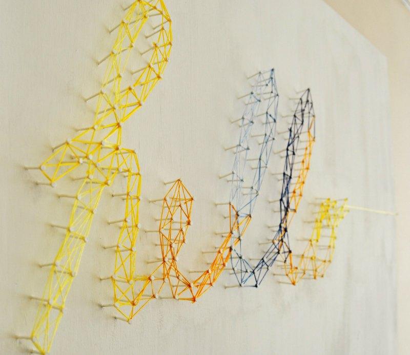 Pregos e linha: decoração DIY