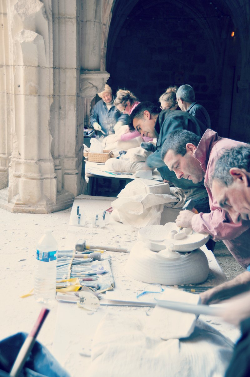 Sculpture workshop @ Carennac // Workshop de Escultura @ Carennac
