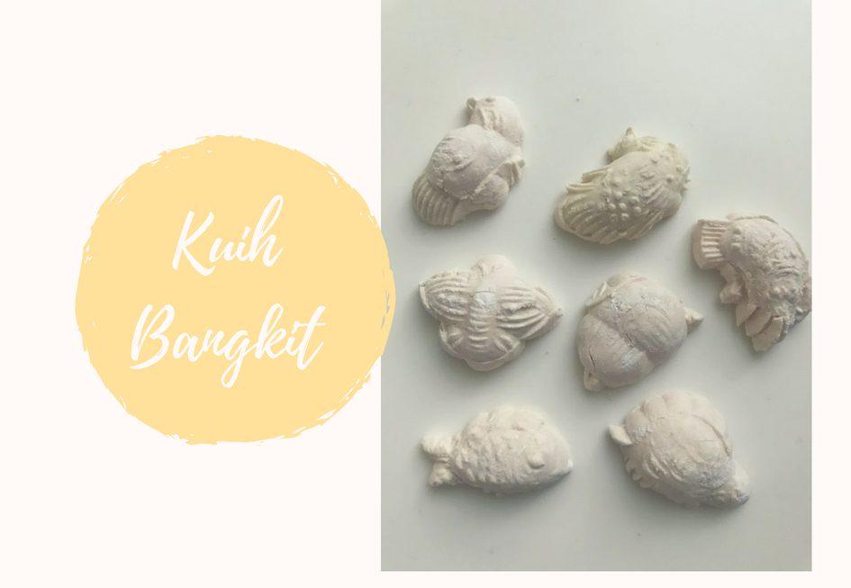 Kuih Bangkit: bolachinhas de farinha de tapioca